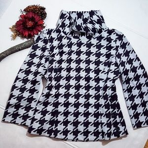 Kenar Houndstooth Sweater Jacket Size 4